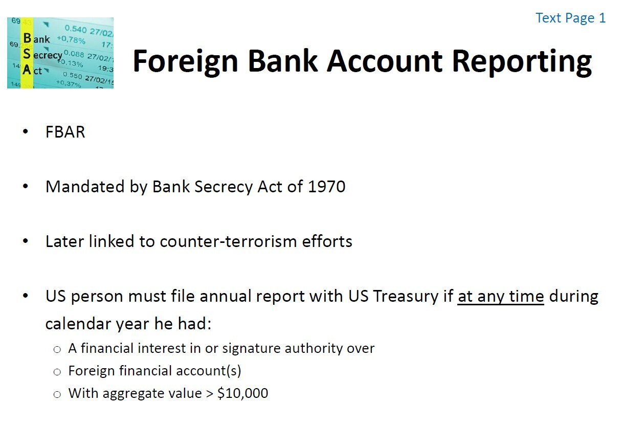 LIVE Webinar 6/22/2021:  Understanding Foreign Account Reporting Obligations